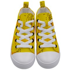 Texture Yellow Abstract Background Kid s Mid Top Canvas Sneakers