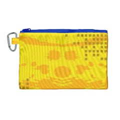 Texture Yellow Abstract Background Canvas Cosmetic Bag (large)