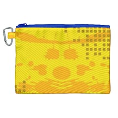 Texture Yellow Abstract Background Canvas Cosmetic Bag (xl)