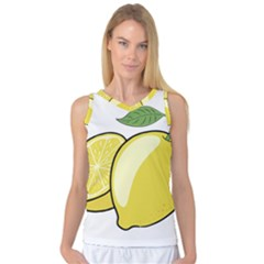Lemon Fruit Green Yellow Citrus Women s Basketball Tank Top