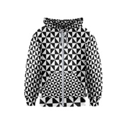 Triangle Pattern Simple Triangular Kids  Zipper Hoodie