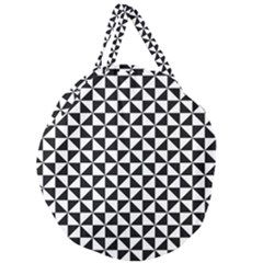 Triangle Pattern Simple Triangular Giant Round Zipper Tote