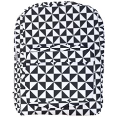 Triangle Pattern Simple Triangular Full Print Backpack