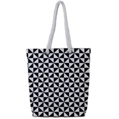 Triangle Pattern Simple Triangular Full Print Rope Handle Tote (small)