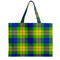 Spring Plaid Yellow Blue And Green Mini Tote Bag