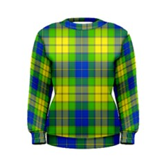 Spring Plaid Yellow Blue And Green Women s Sweatshirt by BangZart