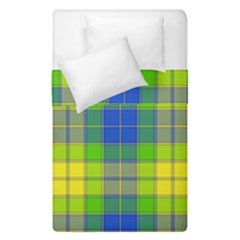 Spring Plaid Yellow Blue And Green Duvet Cover Double Side (single Size) by BangZart