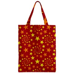 Star Stars Pattern Design Zipper Classic Tote Bag
