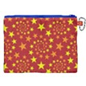 Star Stars Pattern Design Canvas Cosmetic Bag (XXL) View2