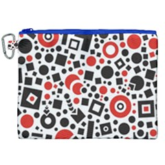 Square Objects Future Modern Canvas Cosmetic Bag (xxl)