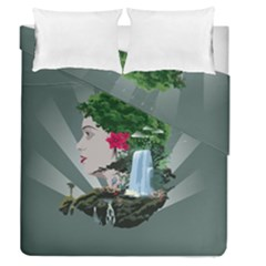Digital Nature Beauty Duvet Cover Double Side (queen Size)