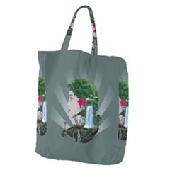 Digital Nature Beauty Giant Grocery Zipper Tote
