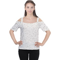 Pattern Star Pattern Star Cutout Shoulder Tee by BangZart