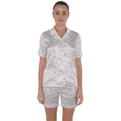 Pattern Star Pattern Star Satin Short Sleeve Pyjamas Set