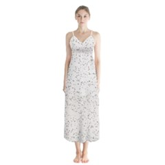Pattern Star Pattern Star Button Up Chiffon Maxi Dress
