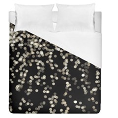 Christmas Bokeh Lights Background Duvet Cover (queen Size) by BangZart