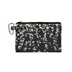 Christmas Bokeh Lights Background Canvas Cosmetic Bag (small)