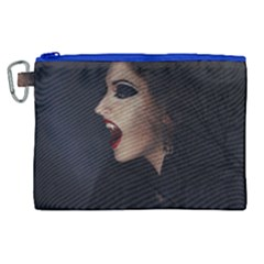 Vampire Woman Vampire Lady Canvas Cosmetic Bag (xl)
