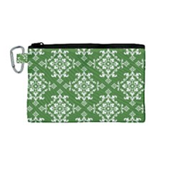 St Patrick S Day Damask Vintage Canvas Cosmetic Bag (medium)