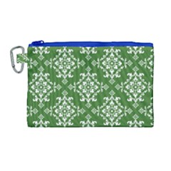St Patrick S Day Damask Vintage Canvas Cosmetic Bag (large)