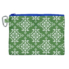 St Patrick S Day Damask Vintage Canvas Cosmetic Bag (xl)
