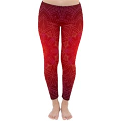 Mandala Ornament Floral Pattern Classic Winter Leggings