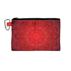 Mandala Ornament Floral Pattern Canvas Cosmetic Bag (medium)