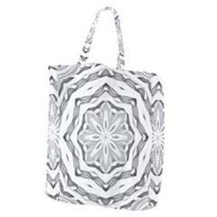 Mandala Pattern Floral Giant Grocery Zipper Tote