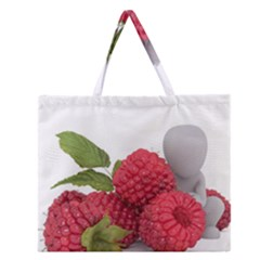 Fruit Healthy Vitamin Vegan Zipper Large Tote Bag