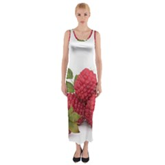 Fruit Healthy Vitamin Vegan Fitted Maxi Dress