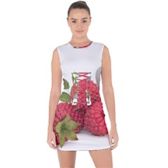 Fruit Healthy Vitamin Vegan Lace Up Front Bodycon Dress