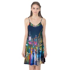 Abstract Vibrant Colour Cityscape Camis Nightgown