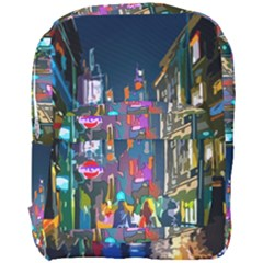 Abstract Vibrant Colour Cityscape Full Print Backpack