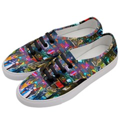 Abstract Vibrant Colour Cityscape Women s Classic Low Top Sneakers by BangZart
