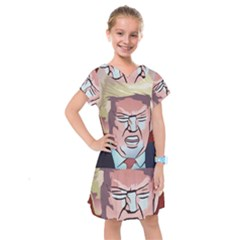 Donald Trump Pop Art President Usa Kids  Drop Waist Dress