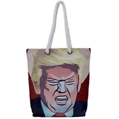 Donald Trump Pop Art President Usa Full Print Rope Handle Tote (small)