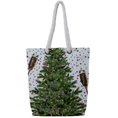 New Year S Eve New Year S Day Full Print Rope Handle Tote (small) by BangZart