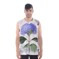 Vintage Shabby Chic Dragonflies Men s Basketball Tank Top