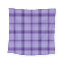 Purple Plaid Original Traditional Square Tapestry (small)
