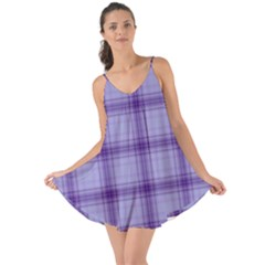 Purple Plaid Original Traditional Love The Sun Cover Up