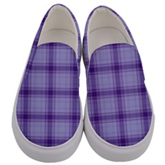 Purple Plaid Original Traditional Men s Canvas Slip Ons