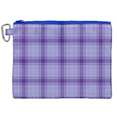 Purple Plaid Original Traditional Canvas Cosmetic Bag (xxl)