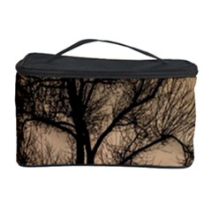 Tree Bushes Black Nature Landscape Cosmetic Storage Case by BangZart