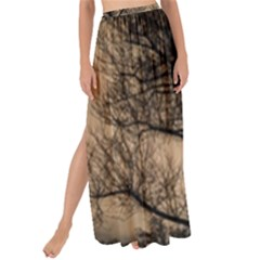 Tree Bushes Black Nature Landscape Maxi Chiffon Tie Up Sarong