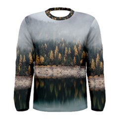 Trees Plants Nature Forests Lake Men s Long Sleeve Tee