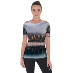 Trees Plants Nature Forests Lake Short Sleeve Top
