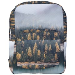 Trees Plants Nature Forests Lake Full Print Backpack by BangZart