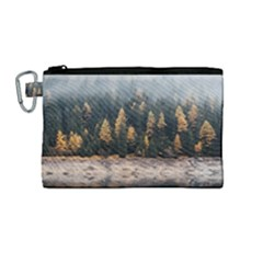 Trees Plants Nature Forests Lake Canvas Cosmetic Bag (medium)