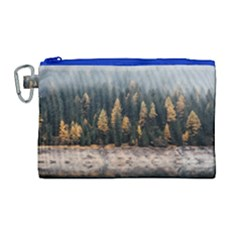 Trees Plants Nature Forests Lake Canvas Cosmetic Bag (large)
