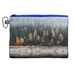 Trees Plants Nature Forests Lake Canvas Cosmetic Bag (xl)